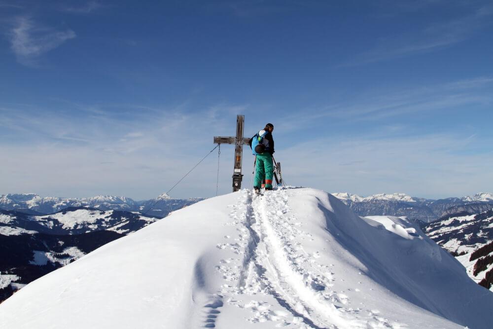 Der Gipfel des Brechhorns - 2032 Meter über dem Meer