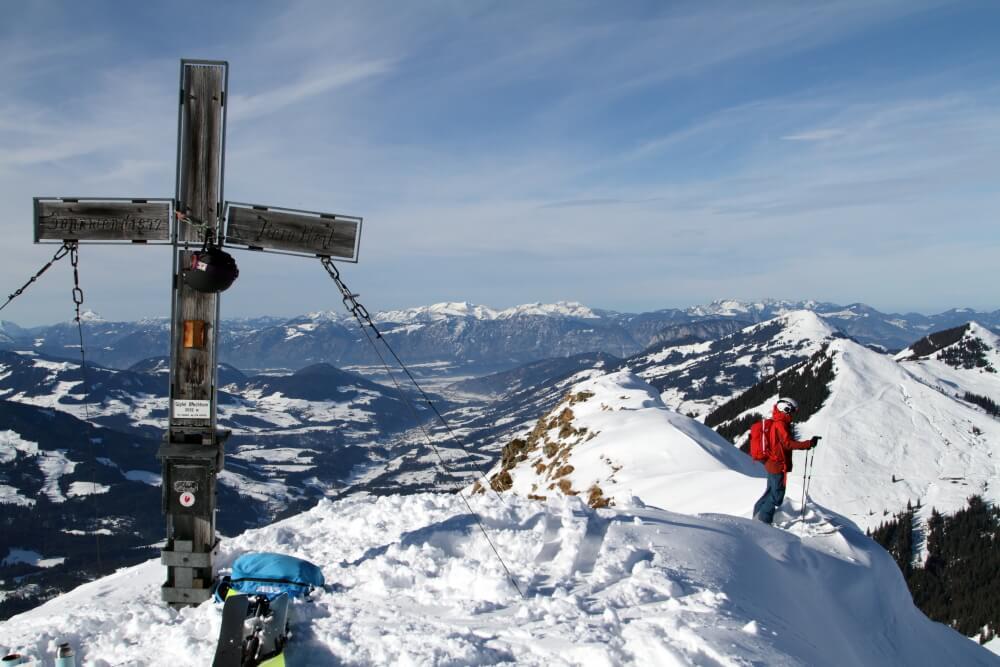 Line-Check im Gipfelhang