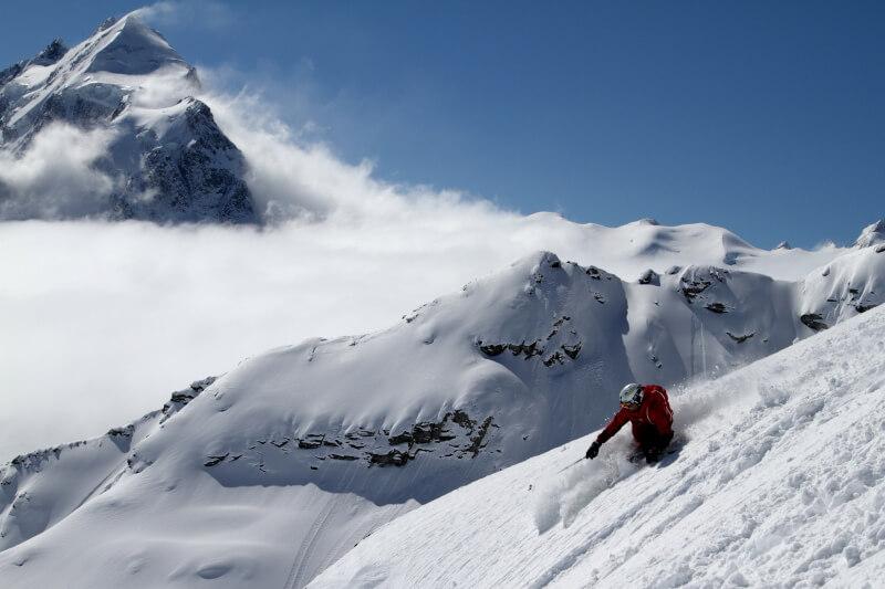 Tagesskifahrt in den Tiefschnee von St. Moritz