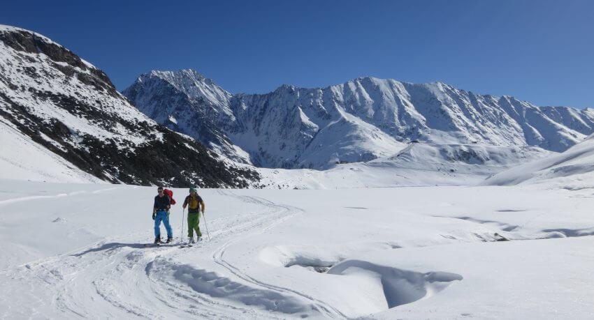 Skitour während einer Tagesskifahrt