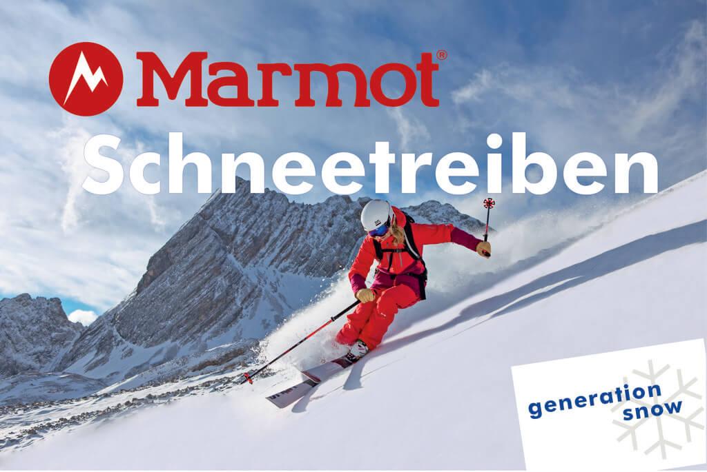 Tagesskievent Marmot Schneetreiben